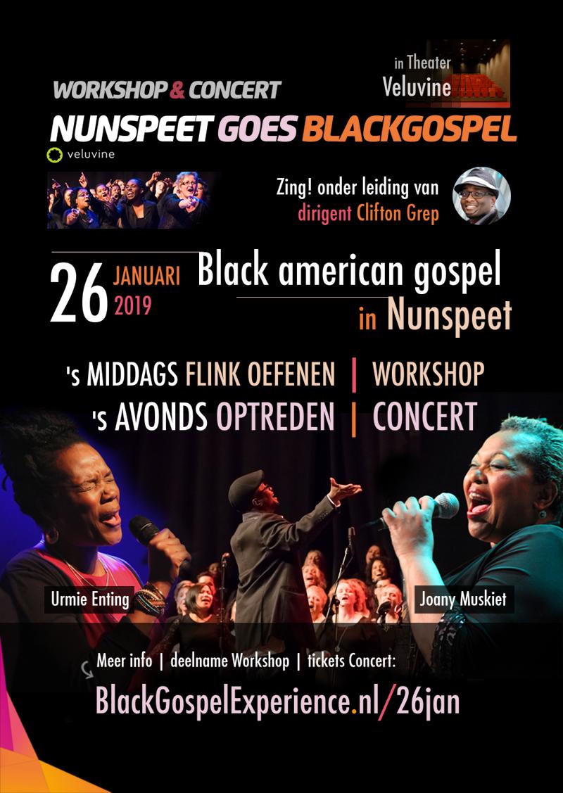 Nunspeet goes Blackgospel | workshop & Concert